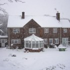 The Glebe House in the snow